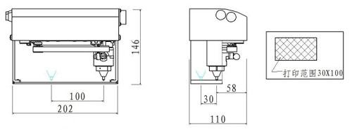 手持控制箱式打码机适用于各种汽车车架打印