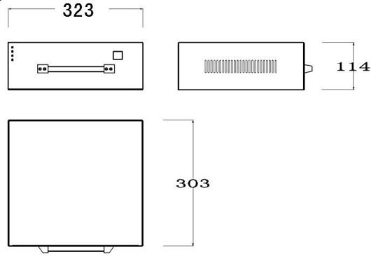 手持控制箱式打码机控制器尺寸